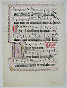 Manuscript Leaf with Initial H, from an Antiphonary