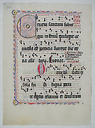 Manuscript Leaf from an Antiphonary