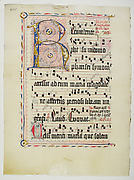 Manuscript Leaf with Initial R, from an Antiphonary