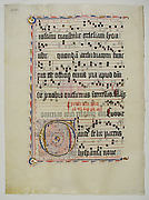 Manuscript Leaf with Initial G, from an Antiphonary