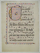 Manuscript Leaf with Initial T, from an Antiphonary