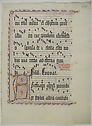 Manuscript Leaf with Initial A, from an Antiphonary