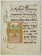 Manuscript Leaf with Initial A, from a Gradual