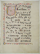 Manuscript Leaf with Initial V, from an Antiphonary