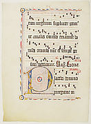 Manuscript Leaf with Initial P, from an Antiphonary