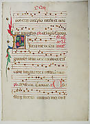 Manuscript Leaf with Initial L, from an Antiphonary