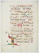 Manuscript Leaf with Initial I, from an Antiphonary