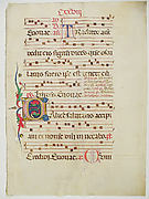 Manuscript Leaf with Initial C, from an Antiphonary