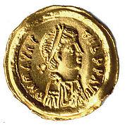 Tremissis of Emperor Maurice Tiberius (r. 582–602)