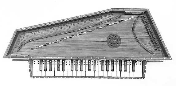 Polygonal Virginal converted to a Tangent Piano