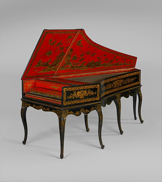 Harpsichord converted to a piano