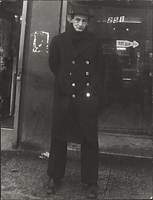 [Street Scene: Man Dark, Double-Breasted Overcoat, New York City]