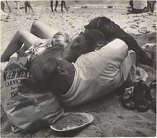 [Beach Scene: Family Napping In Shade, Coney Island, New York]