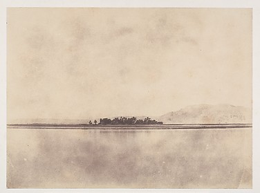 [The Nile in front of the Theban Hills]