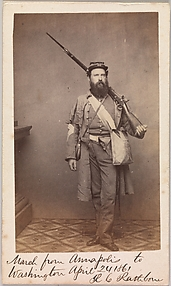 March from Annapolis to Washington, Robert C. Rathbone, Sergeant Major, Seventh Regiment, New York Militia