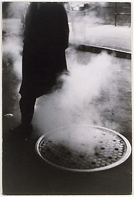 Man Near Manhole, Times Square, New York City