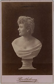 [Female Portrait Bust on Pedestal]