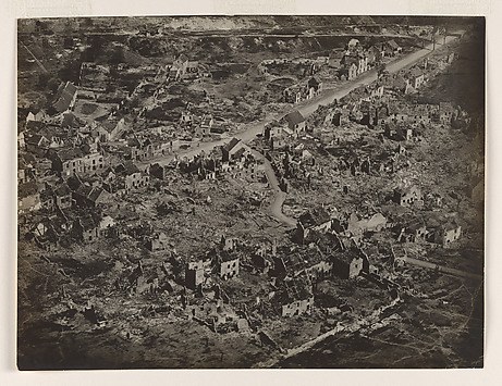 Aerial View of Vaux, France, After the Bom...