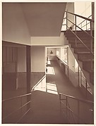 [School Interior: View from Stairway and Hall]
