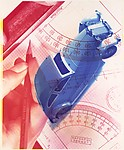 [Montage of Model Car, Drafting Rulers, and Hand Drawing on Graph Paper Pad]