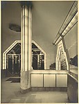 [Strand Palace Hotel, Interior with Illuminated Columns and Door Frames]