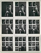 Nine Polaroid Photographs of a Mirror