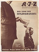 Der Sinn Des Hitlergrusses:  Kleiner Mann bittet um grosse Gaben.  Motto:  Millonen Stehen Hinter Mir!