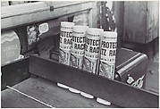 [Daily Mirror Newspapers for Sale at Grocery, East 61st Street, New York]