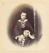 [Vignetted portrait of two children]