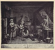 [photo-reproduction of Hogarth's print illustrating the Dunciad, Book I, line III]