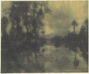 Water and Trees of the Viga Canal near Mexico City