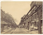 [Greenwich Street, New York City, with Office of Erie Railway]