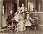 Elberon, New Jersey, Mrs. Watson B. Thompson, John Sloan Jr., Mrs. John Sloane, Mr. John Sloane, Evelyn Sloane, William Sloane, Mina Barber, Mary Butter