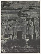 Nubie. Ibsamboul. Entrée du Spéos d'Hathor