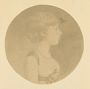 [Mezzotint Portrait of a Girl in Profile]