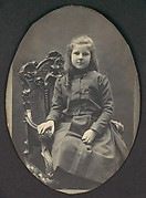 [Girl with Ringlets, Seated, Three-Quarter Length]