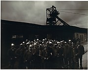 Welsh Coal Miners in Front of Mill