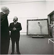 [Henry Geldzhaler in Gallery with September Morn]