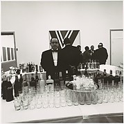 [Bartender at an Opening at the Metropolitan Museum of Art]