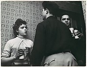 [Young Woman and Two Men with Cans of Rheingold Beer in Apartment: From