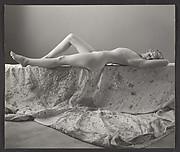 [Nude Young Girl Reclining on Drop Cloth, Possibly Elizabeth Lynes]