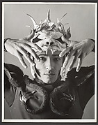 [Dancer in Costume with Animal Skull Headpiece]
