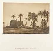 Vue du Village de Hamarneh, près de Dendérah (Rive droite)