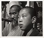 Chief Monk and Novice of a Buddhist Temple, Yunnan Province, China