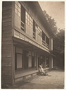 [Olga de Meyer Sitting on the Porch of a Japanese House]