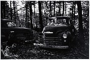 [Wrecked Truck in Woods]