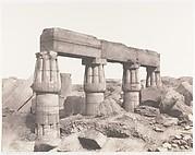 Karnak (Thèbes), Palais - Partie Posterieure - Fragment de Colonnades Vu du Point S
