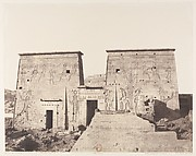 Ile de Fîleh (Philæ), Premier Pylône - Vue Prise de la Plate-Forme de la Colonnade Orientale en P