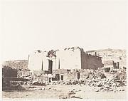 Kalabcheh (Talmis), Ruines du temple - Façade et Mur d'Enceinte