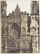 Haut de Portail, Ct de la Place, Cathdrale de Rouen